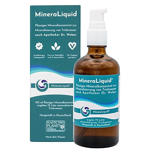 MineraLiquid® Mineralkonzentrat - Elektrolyte für Wassersprudler und Getränke - geschmacksneutral - Flüssige Mineralstoffe und Spurenelemente zum...
