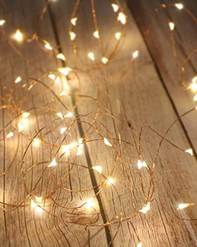 LED Lichterkette Batterie [2 Pack], Litogo Lichterketten für Zimmer, 5m 50er Micro LED Lichterkette Draht Feenlichter Mini Fairy Lights Innen Deko für Party...