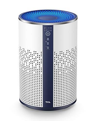 TCL Luftreiniger mit HEPA Filter 99,97% Filterleistung gegen Staub Pollen Rauch für Allergiker und Raucher, Air Purifier Metall Design mit Nachtlicht,...