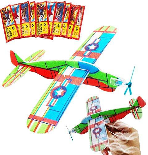 BESTZY Glider Planes, Plane Glider, Foam Glider Plane, Glider Plane Toy Gliding Flugzeuge für Kinder als Preis und Geschenk für den Kindergeburtstag (Glider...