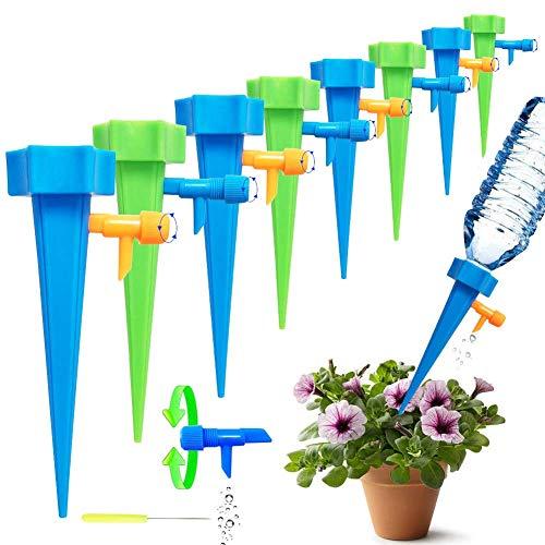 Netrox Wasserspender für Pflanzen | 15x automatisches Bewässerungssystem Bewässerung für Garten Pflanzen Blumen und Zimmerpflanzen Bewässerung |...