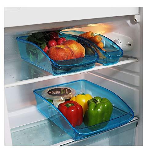 Provance 3er Set Kühlschrank Organizer Lagerung Box Gefrierschrank Speisekammer Lebensmittel Aufbewahrungsbehälter für Gemüse Obst Milch, Durchsichtig...