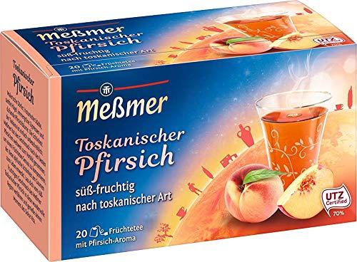 Meßmer Ländertee   Toskanischer Pfirsich Tee   20 Teebeutel   Glutenfrei   Laktosefrei   Vegan