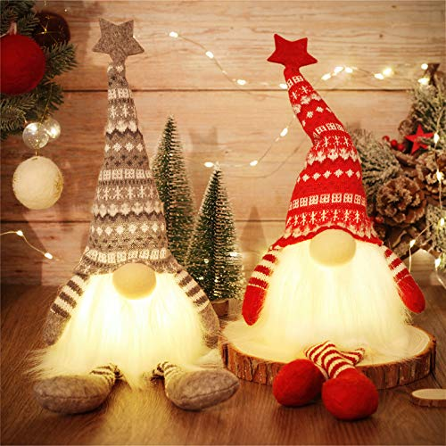 MTaoyac Weihnachten Deko Wichtel 49 cm Hoch, Schwedischen Weihnachtsmann Santa Tomte Gnom, Festliche Verpackung, Skandinavischer Zwerg Geschenke für Kinder...