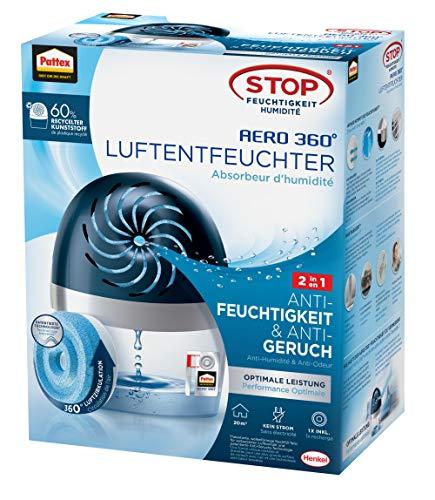 Pattex AERO 360º Luftentfeuchter, ultra-absorbierender Raumentfeuchter, hilft Kondenswasser, Schimmel- und Modergeruch zu vermeiden, nachfüllbarer...