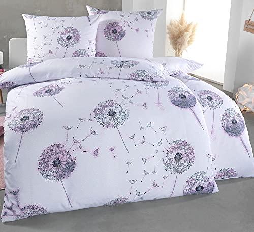 Kuscheli® Bettwäsche 135x200 4 teilig | ÖkoTex Zertifiziert & für Allergiker geeignet |Bettwäsche Set mit je 2 Bettbezügen 135 x 200 & Kissenbezügen...