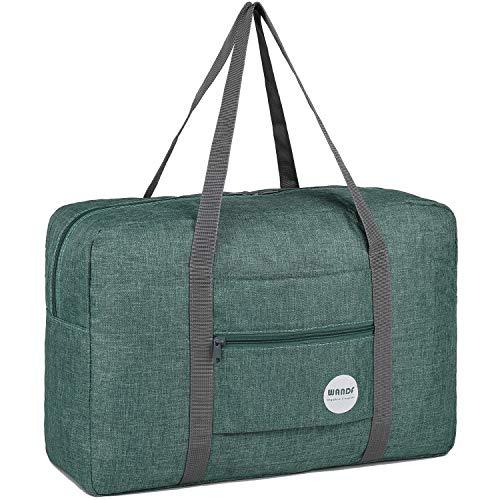 WANDF Leichter Faltbare Reise-Gepäck Handgepäck Duffel Taschen Übernachtung Taschen/Sporttasche für Reisen Sport Gym Urlaub Weekender handgepaeck (A -...