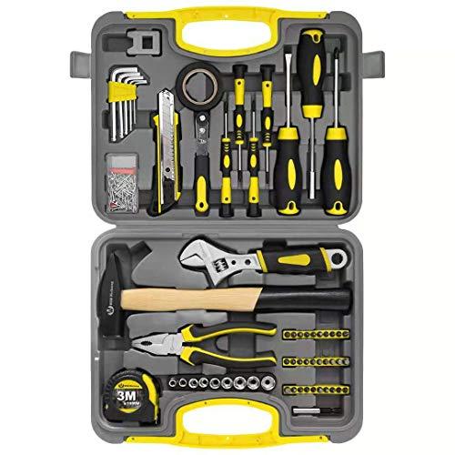 WZG Werkzeugset im Koffer, Werkzeugkoffer, Werkzeug-Set Ideal Weihnachtsgeschenk für den Haushalt, Werkzeugkasten für den Haushaltsbereich...