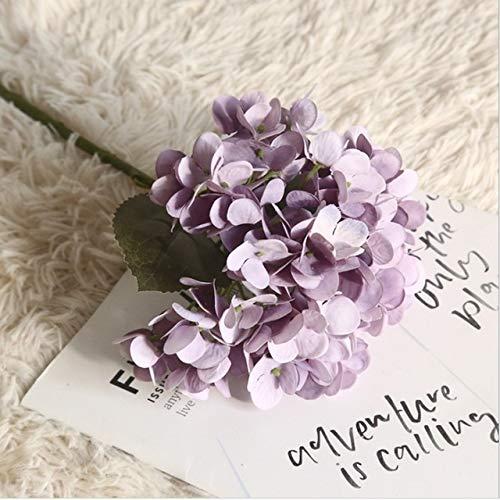 Fxshisnz Künstliche Blumen 1 Bund Seide Hortensien Vasen for Heimtextilien Zubehör Haushaltsartikel Künstliche Blumen Hochzeit dekorative Blumen (Color : 7)