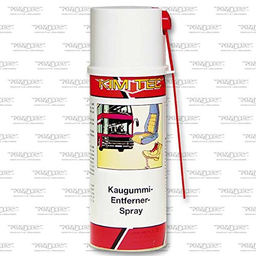 KIM-TEC Kaugummi- Entferner- Spray 400ml, zur Entfernung von Kaugummi und ähnlich gearteten Klebstoffen auf Böden, Sitzen und Kleidungsstu?cken