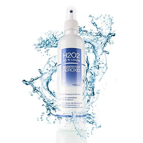 Nemkur Wasserstoffperoxid H2O2 3,5% Lösung - 250 ml auf Osmose Wasser mit praktischem Sprühaufsatz - optimal zum Desinfizieren und zur Mundhygiene -...