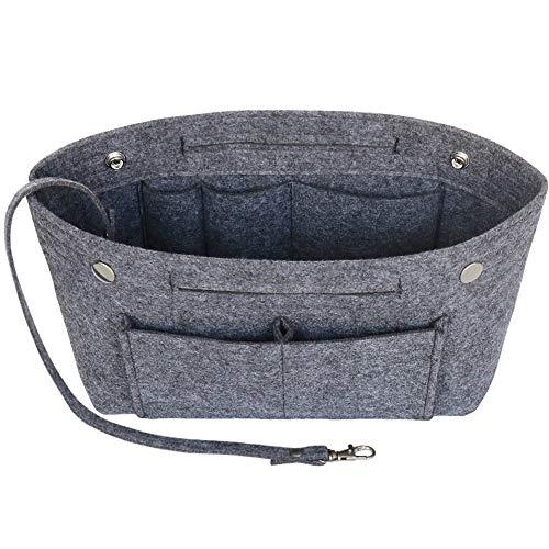 Joqixon Taschenorganizer Filz, Taschen Organizer, Innentaschen für Handtaschen mit Griffen und Schlüsselkette, Handtaschen Organizer