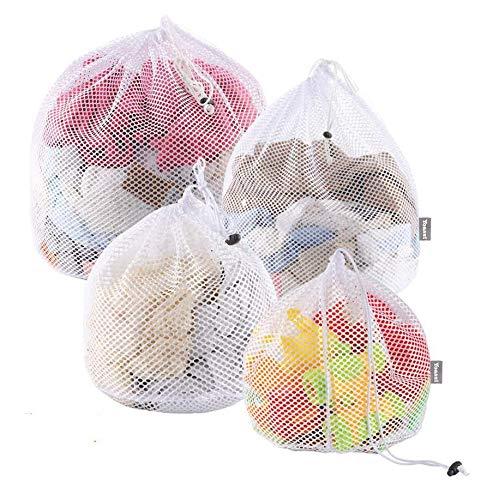 Yoassi 4 Stück Hochwertig Wäschesack Waschmaschine mit Kordelstopper Wäschebeutel Wäschenetze für Waschmaschine, Unterwäsche, Babywäsche, Socken,...