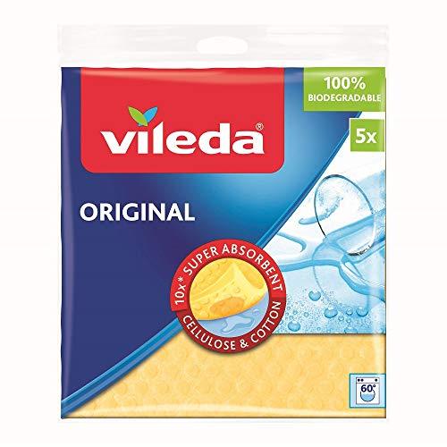 Vileda Original Schwammtuch, 5er-Pack, farblich sortiert