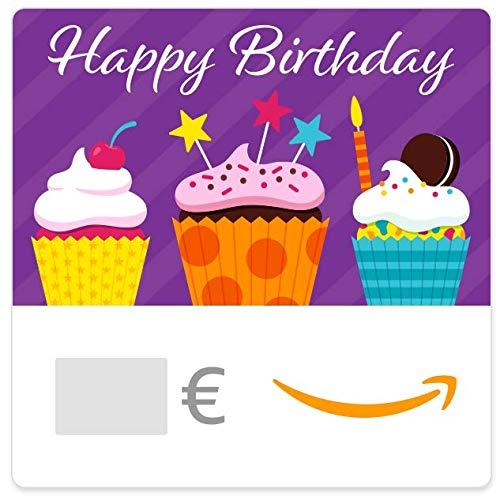 Digitaler Amazon.de Gutschein (Happy Birthday Cupcakes)