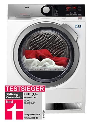 AEG T9DE77685 Wärmepumpentrockner / FiberPro – Trocknen ohne Vorsortieren / 8,0 kg / A+++ / energiesparend / Mengenautomatik / Knitterschutz /...