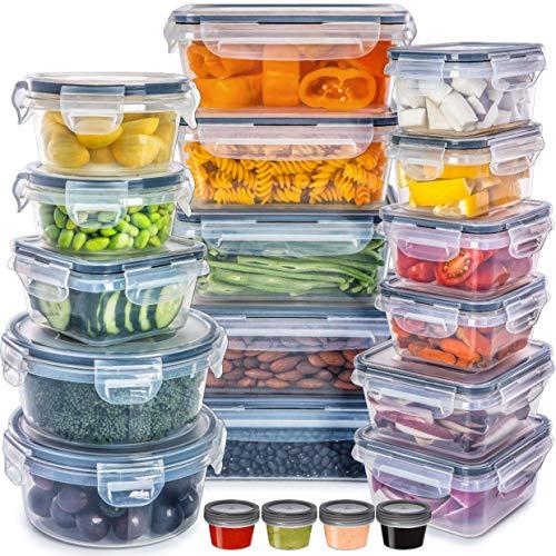 fullstar 40 TLG Set [20 Behälter + 20 Deckel] Frischhaltedosen Mit Deckel Vorratsdosen Set - Wiederverwendbar Auslaufsichere Frischhaltedosen Set Küche für...