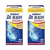 Kukident Die Blauen Gebissreinigungstabletten Gebissreiniger Reiniger 2er Pack (2 x 104 Tabs)