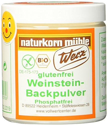 Werz Weinstein Backpulver glutenfrei 1er Pack (1 x 150 g Dose) - Bio