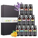 Magicfun Ätherische Öle Set, Aromatherapieöle Geschenkset 12 Pack, 100% reine natürliche Duftöle für Spa-Massagen Familienpflegebäder Diffusoren Luftbefeuchter Aromalampen (12 x 10 ml)