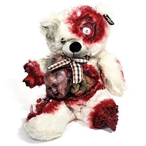 Original Zombie Teddy XXL 50cm Halloween Teddybär Horror-Bär Der Gruselige Kuschelbär für alle Splatter & Horror Fans (Alien Geburt)