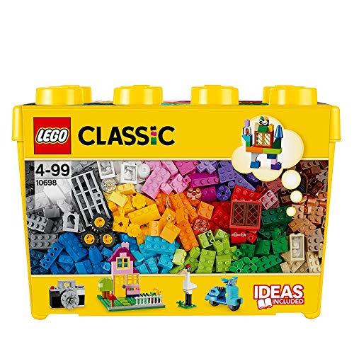 LEGO 10698 Classic Große kreative Bausteine-Box, Spielzeugaufbewahrung, bunte Bausteine für LEGO Masters