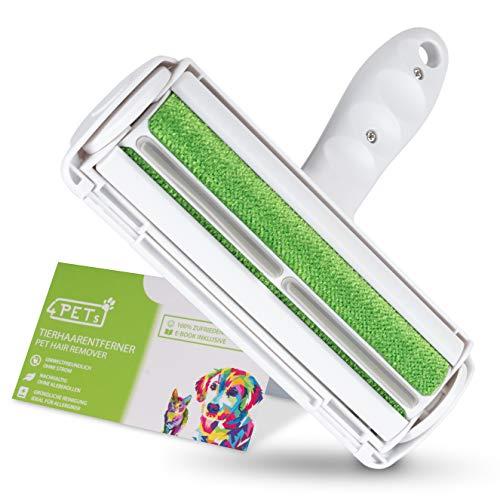 4 Pets - Fusselbürste 2.0 für eine schnelle und Bequeme Tierhaarentfernung - Fusselrolle Tierhaare für Autositze, Möbel & Teppiche - Wiederverwendbarer...