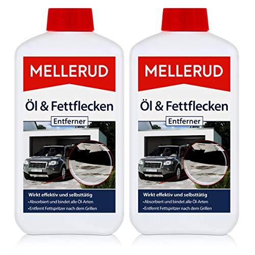 Mellerud Öl & Fettflecken Entferner 500ml - Absorbiert und bindet alle Öl-Arten - Entfernt Fettspritzer nach dem Grillen (2er Pack)