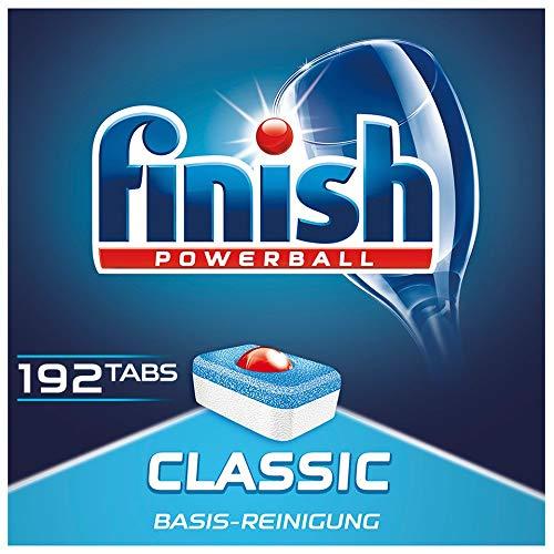 Finish Classic Spülmaschinentabs, phosphatfrei – Geschirrspültabs mit Powerball für die Basis-Reinigung des Geschirrs – Für 3 Monate – Gigapack mit...