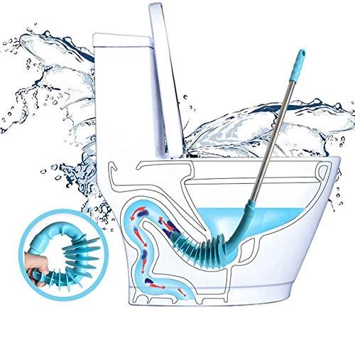 Toiletten Pömpel zum Abflussreiniger Toilette Kolbenförmiger Toilettenreiniger Toilet Plunger mit langem Griff aus Edelstahl WC-Verstopfungslöser,Abzieher...