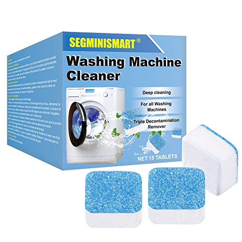 SEGMINISMART Waschmaschine Reiniger Schaum,Brausetabletten Reiniger,Waschmaschine Reiniger Tabs,Solide Reiniger Tablette Waschmaschinenreiniger