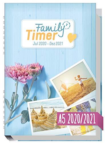 Family-Timer 2020/2021 A5 - Der Familien-Kalender! 18 Monate: Juli 20 bis Dezember 21 | Familien-Planer für bis zu 4 Personen + viele hilfreiche Features |...