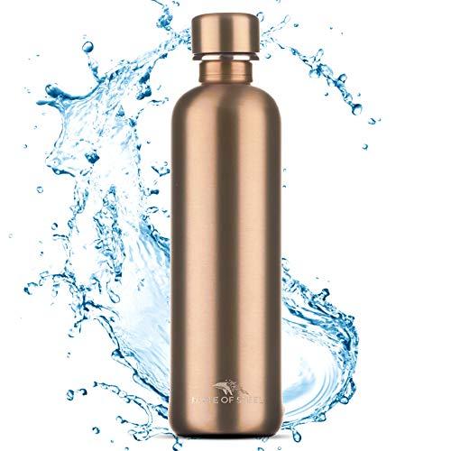 MATE OF STEEL® Premium 0.75L Edelstahl Flasche Kompatibel mit Sodastream Crystal & Easy – Kohlensäure geeignet | 750ml Trinkflasche aus Metall | Soda...