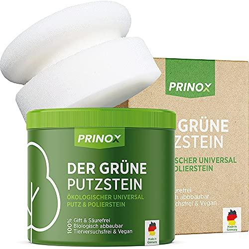 PRINOX® Der Grüne Putzstein I 950g inkl. Handschwamm I Nachhaltiger Universal Haushaltsreiniger I Jahresvorrat je Dose I Reinigungsstein für Küche, Bad,...