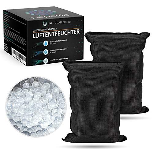 PEPELLIA® Luftentfeuchter Auto - laborgeprüft effektiv: 2x500 g Silicagel Luftentfeuchter Granulat - Raumentfeuchter auch für Haus u. Boot - Top Entfeuchter...
