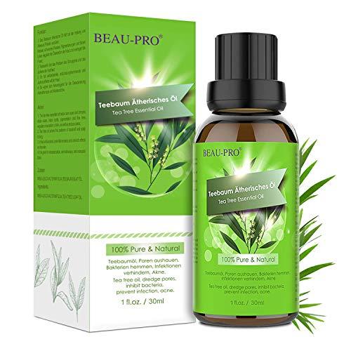 Teebaumöl Naturrein 100% Teebaum öl - Tea Tree Oil für Shampoo Gesicht - Akne Öl, Acne Serum, Anti-Akne-Behandlung Gegen Unreine Haut, Anti Pickel, Akne...