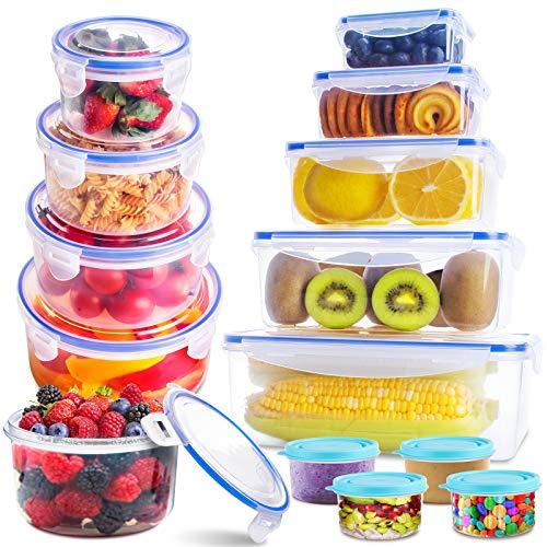 SYOSIN Frischhaltedosen (13-teilig), Frischhaltedosen aus Kunststoff mit Deckel-Aufbewahrung von, Kunststoffbehältern mit Deckel, auslaufsichere Organisation...