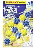 WC-Frisch Kraft Aktiv Duftspüler Lemon, WC-Reiniger, 3 Stück, mit Lufterfrischer Effekt für einen intensiven Duft