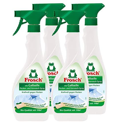 4x Frosch wie Gallseife Fleck-Entferner und Vorwasch Spray 500 ml Sprühflasche