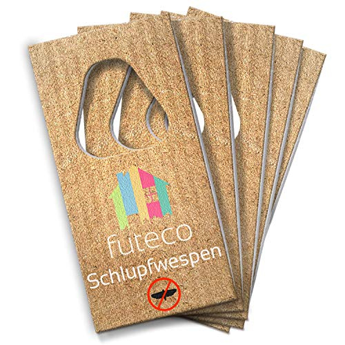 Futeco® – Schlupfwespen gegen Lebensmittelmotten (5 Karten á 3 Lieferungen) – 100% Biologisch, Chemiefrei & Natürlich – Die zuverlässige Alternative...