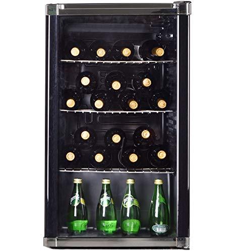 Syntrox Germany Mini-Bar, Getränkekühlschrank, Showcase, Kühlschrank mit Glastür, geräuscharm, 85 Liter