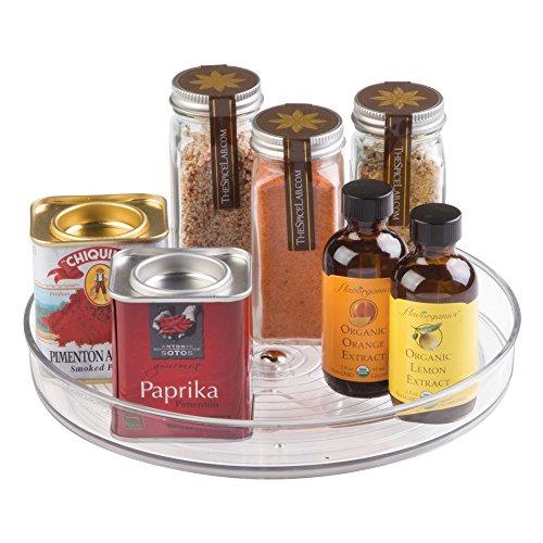 iDesign Küchen Organizer, kleiner Drehteller aus BPA-freiem Kunststoff für den Vorratsschrank, drehbarer Gewürzhalter für Vorratsdosen und Gewürze,...