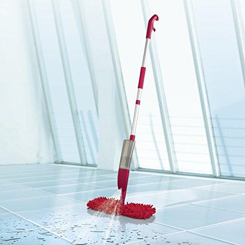 CLEANmaxx Spray-Mopp flexibel in Rot