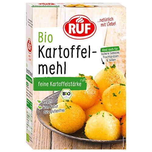 RUF Bio Kartoffel Mehl feine Kartoffelstärke Glutenfrei, 9er Pack (9 x 500 g)