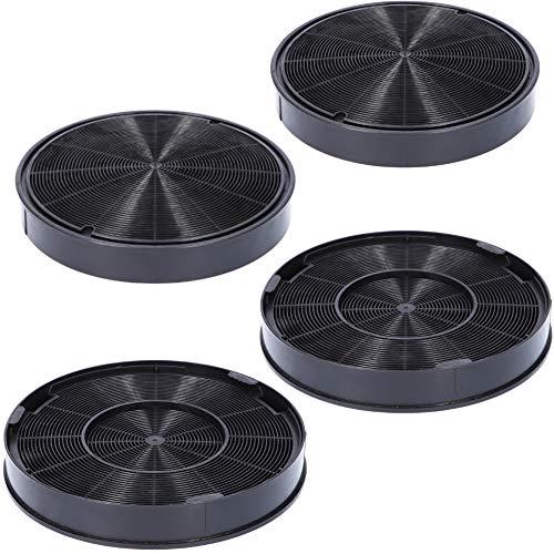 4x Aktivkohlefilter Ø 200mm für Dunstabzugshaube geeignet als Alternative für Kohlefilter 9029793578 + 00748732 + 112.0016.755, für Dunstabzug von Franke,...