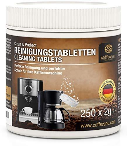 Coffeeano 250 Reinigungstabletten für Kaffeevollautomaten und Kaffeemaschinen Clean&Protect. Reinigungstabs kompatibel mit Jura, Siemens, Krups, Bosch, Miele,...
