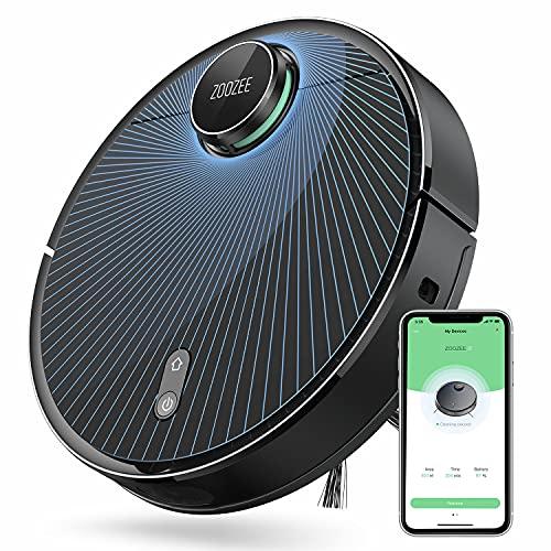 Saugroboter 5GHz Wi-Fi ZOOZEE Z70 LiDAR Laser Navigations Roboterstaubsauger,3500Pa starker Saugleistung,5200MAh LG Akku Saugen und Wischen Staubsauger...