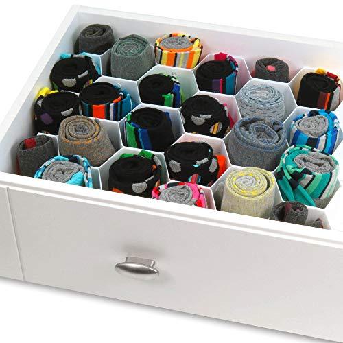 HANGERWORLD Schubladen Organisierer mit Mehreren Fächern Lagerung und Sortieren von Socken Unterwäsche Nähutensilien und Kleinteilen