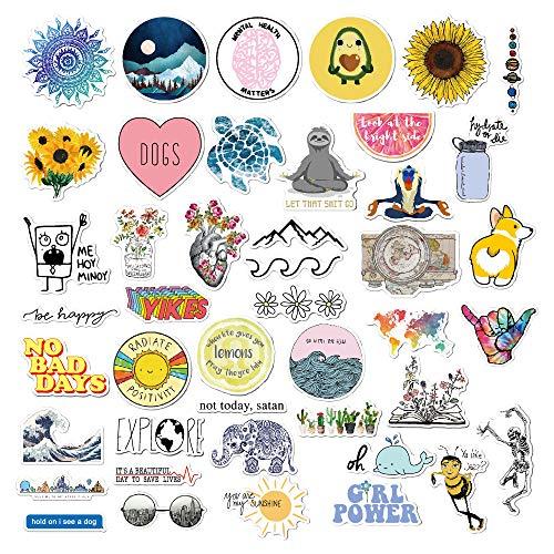 45 Stück süßer Aufkleber,Wasserdicht Vinyl Stickers Graffiti Style Decals für Motorräder Fahrrad Skateboard Snowboard Gepäck Aufkleber,Autos Decals...