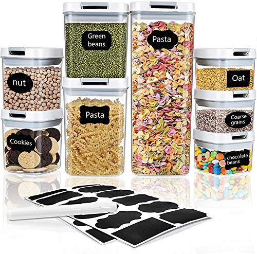 Frischhaltedosen mit luftdichten Deckeln 8PCS, Lebensmittelbehälter auslaufsicher für Flüssigkeiten verschließbar für Reisen Snacks Küche Kühlschrank...